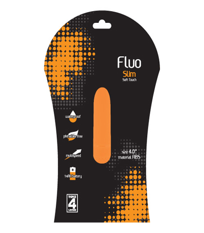 VIBRATOR - FLUO SLIM ACID ORANGE