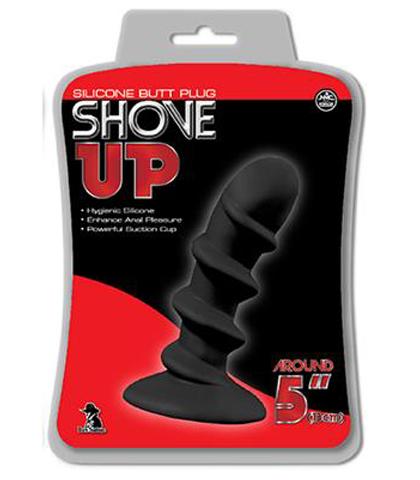 SHOVE UP SILICONE BUTTPLUG BLACK