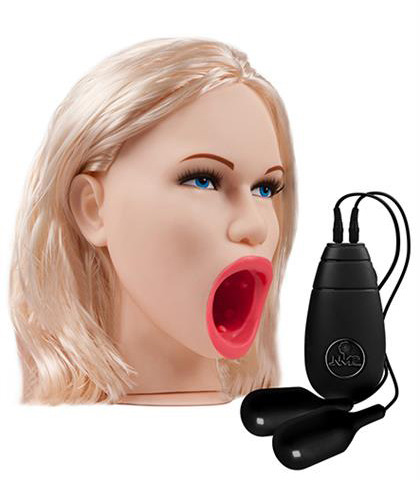 DEAP THROAT PVC DOLL HEAD