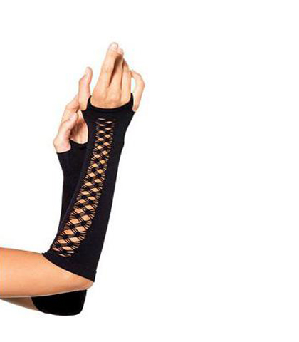 Crne mrezaste rukavice