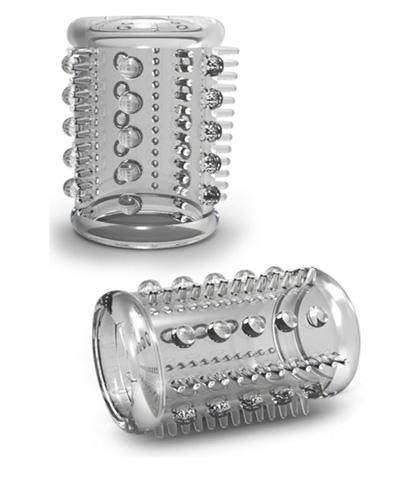 silikonska navlaka za penis sa bodljicama i kuglicama