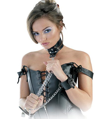 LEATHER COLLAR AND CUFFS
