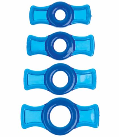 Set prstenova za penis u plavoj boji