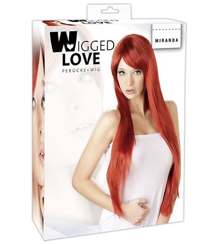 Crvena perika duga ravna kosa
